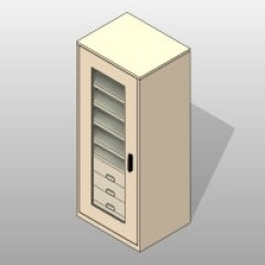 PCS Museum Preservation Cabinet With Shelves and Drawers 1 Small