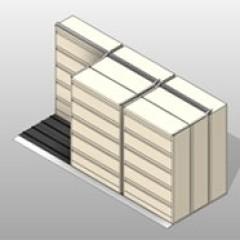 PCS Sliding Lateral Files 4 Post Shelving 1 Small