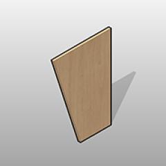 Plastic Laminate Angled Leg Panel Small