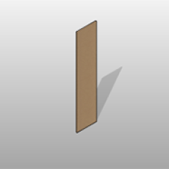 Plastic Laminate Locker End Panel Small