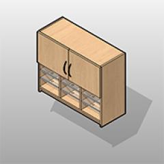 Plastic Laminate Wall Cabinet Sorter 2 Doors Small