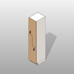 Plastic Laminate Z Door Locker Small