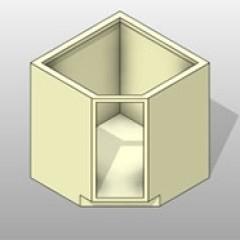 Powder Coated Steel Angle Corner Base Cabinet Units 1 Small