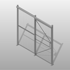 Powder Coated Steel Sliding Door Wire Partition Small