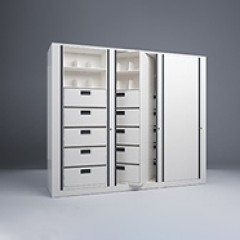 Rotary File-Letter-1 Starter-2 Adder-7 Tier-Drawers-Render Small