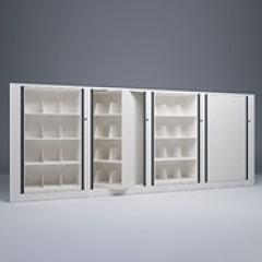 Rotary File-Letter-1 Starter-3 Adder-4 Tier-Shelves-Render Small
