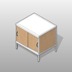 Sliding Doors Aluminum Frame Cabinet Console Small