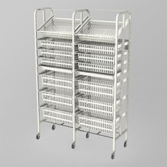Medical Supply Storage-2 Column-8 High (Wide)