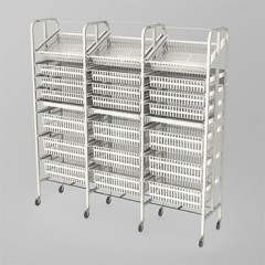Medical Supply Storage-3 Column-8 High (Wide)