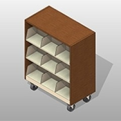 ssg cantilever mobile shelving enclosed Small