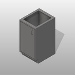 SST ADA-Compliant 1 Door Base Cabinet Left Small