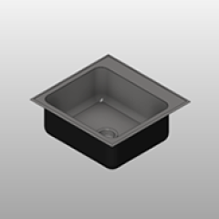Stainless Steel Single Bowl Drop Sink Ledge Small