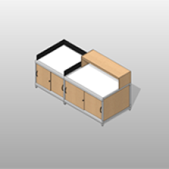 Stationary Laminate Mail-Room Casework Kit Small