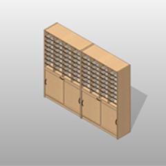 Stationary Mail-Room Casework Kit Freestanding Sorters Sliding Shelves Small