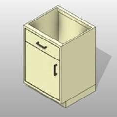 Steel Lab Base Cabinet Drawers and Doors 1 Small