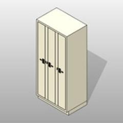Three Column Painted PCS Evidence Locker 1 Small