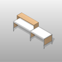 Wide Laminate Mail-Room Casework Kit Small