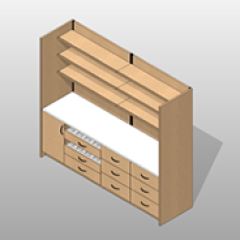 Wide Laminate Pharmacy Casework Kit Option 5 Small