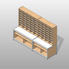 Wide Mail-Room Laminate Casework Kit Small