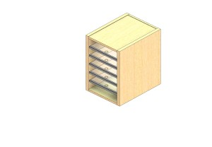 """Legal Sized Closed Back Sort Module - 1 Column - 18"""" Sorting Height w/ No Riser"""