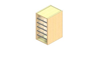 """Legal Sized Closed Back Sort Module - 1 Column - 24"""" Sorting Height w/ No Riser"""