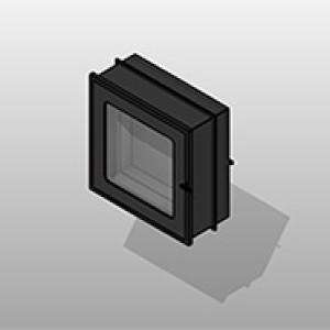 SSG Cabinet Specimen Pass Through Stainless Steel 242411 Glass Door Small