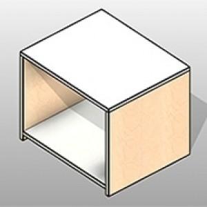 Console with Bottom Shelf Executive Laminate Casework