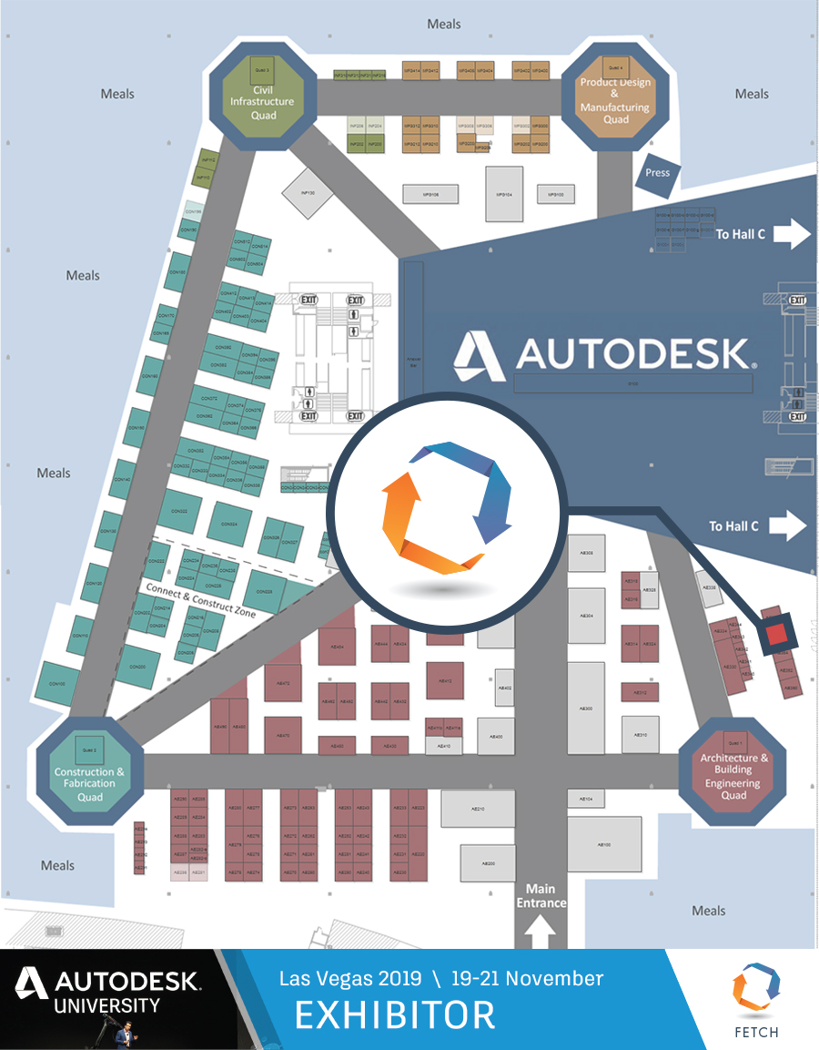 Autodesk University Southwest Solutions Group Booth Fetch